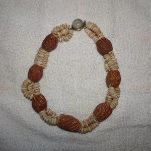 Carved Ceramic Beaded Boho Choker Necklace
